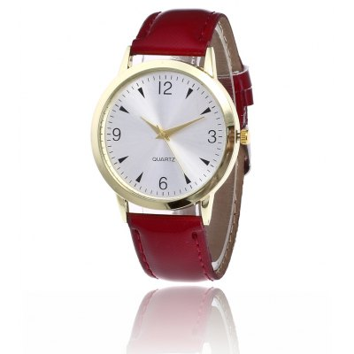 Simple Trendy PU Band Women Quartz Watch