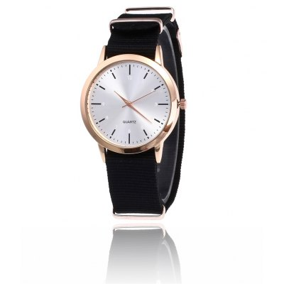Trendy Colorful Canvas Band Men Quartz Watch
