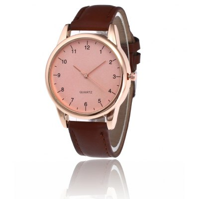 Trendy Simple PU Band Men Quartz Watch