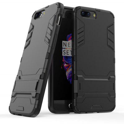 Luanke Drop-proof Phone Stand Back Case for OnePlus 5