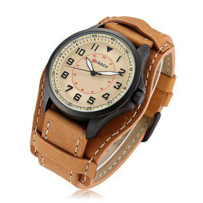 8279 Quartz Men WatchMens Watches<br>8279 Quartz Men Watch<br><br>Band material: Genuine Leather<br>Brand: Curren<br>Case material: Alloy<br>Display type: Analog<br>Hour formats: 12 Hour<br>Movement type: Quartz watch<br>Package Contents: 1 x Watch, 1 x Box<br>Package size (L x W x H): 26.40 x 5.30 x 2.30 cm / 10.39 x 2.09 x 0.91 inches<br>Package weight: 0.2200 kg<br>Product size (L x W x H): 25.40 x 4.30 x 1.30 cm / 10 x 1.69 x 0.51 inches<br>Product weight: 0.0720 kg<br>The band width: 2.2cm<br>The dial diameter: 4.3cm<br>The dial thickness: 1.3cm<br>Watches categories: Men<br>Water resistance: Life water resistant