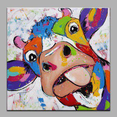 YHHP Lovely Cow Pattern Hand-painted Oil Painting