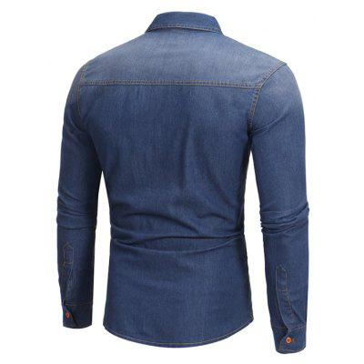 Long Sleeves All-match Shirts for MenMens Shirts<br>Long Sleeves All-match Shirts for Men<br><br>Material: Cotton, Polyester<br>Package Contents: 1 x Shirt<br>Package size: 40.00 x 30.00 x 4.00 cm / 15.75 x 11.81 x 1.57 inches<br>Package weight: 0.4200 kg<br>Product weight: 0.4000 kg