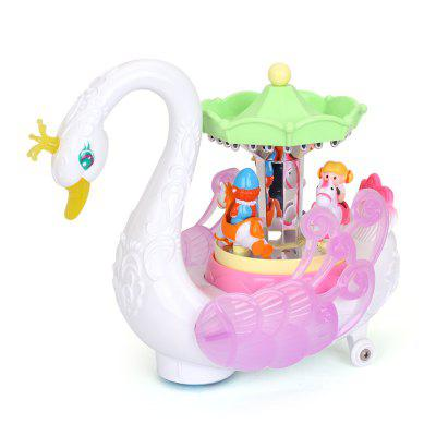 Swan Model Fairground Ride Design Toy for Kids чаша горошек 2 л бел син 1150426