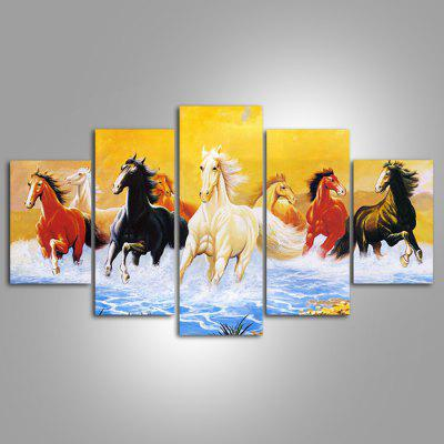 Buy COLORMIX 5PCS YSDAFEN Running Horses Printed Painting Canvas Print for $55.37 in GearBest store