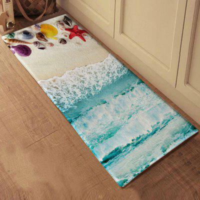 Seaside Shells Scenery Bath Mat Non-slip Area Rug