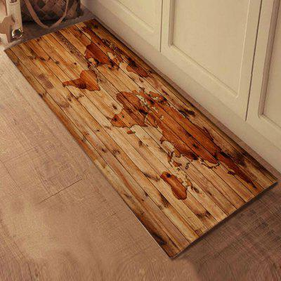 Wood Grain Pattern Non-slip Doormat Indoor Bathroom Mat