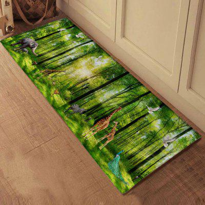 Green Forest Scenery Bath Mat Non-slip Area Rug