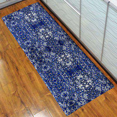 3D Printing Blue Roadside Scenery Pattern Bath Mat Welcome Floor Carpet Non-Slip Area Rug