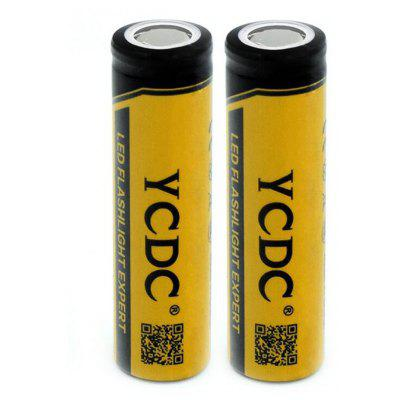 YCDC 2PCS 18650 Li-ion Rechargeable Battery