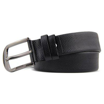 Pin Buckle Genuine Leather Trouser Belt for Men