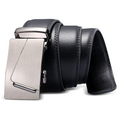 Automatic Buckle Genuine Leather Business Waist Belt for Men