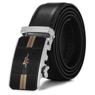 Fashion Men Genuine Leather Leisure Alloy Buckle Trouser Belt