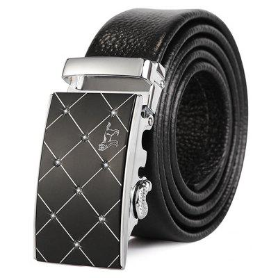 Fashion Genuine Leather Alloy Buckle Business Trouser Belt