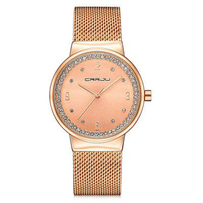 CRRJU 2122 Women Alloy Band Quartz Wrist Watch