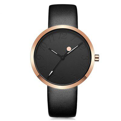 Buy BLACK CRRJU 2124 Women Stylish Leather Band Quartz Watch for $14.98 in GearBest store