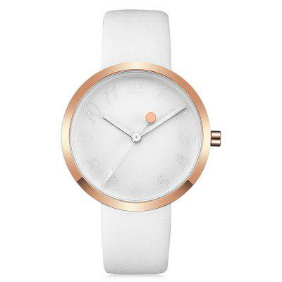Buy WHITE CRRJU 2124 Women Stylish Leather Band Quartz Watch for $14.98 in GearBest store