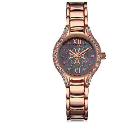 CRRJU 2126 Women Elegante Alloy Band Quartz Wrist Watch