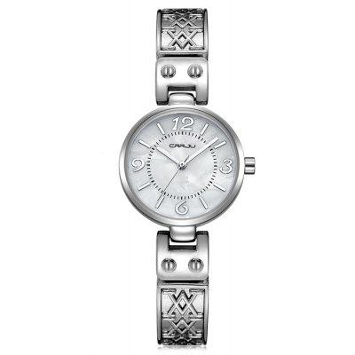 Buy WHITE CRRJU 2130 Women Stylish Alloy Band Quartz Wrist Watch for $16.82 in GearBest store