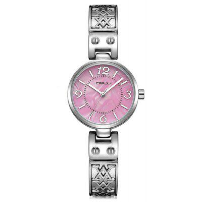 CRRJU 2130 Women Elegante Alloy Band Quartz Wrist Watch