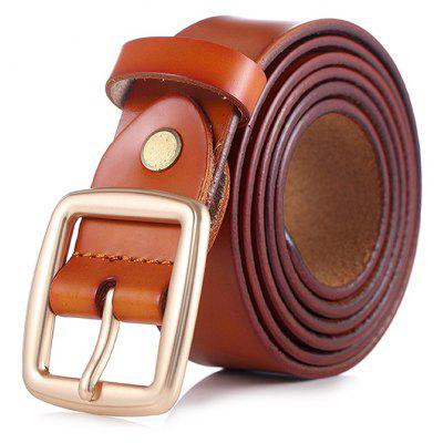Classic Cowskin Pin Buckle Trouser Belt for Women
