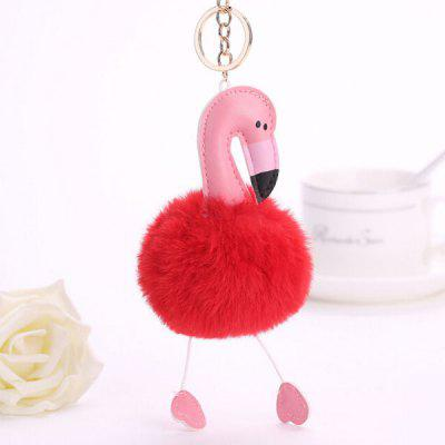 Buy RED Lovely Cartoon Flamingo Style Hang Decoration for $3.48 in GearBest store
