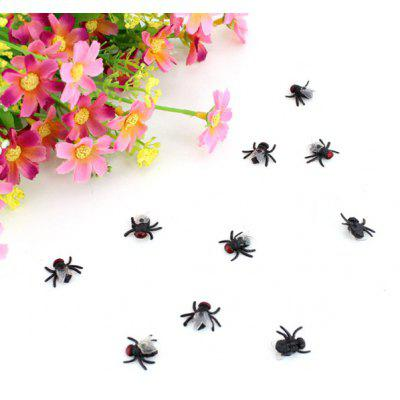 Buy BLACK 10PCS Creative Halloween Decoration Simulation Fly for $10.63 in GearBest store