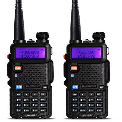 BaoFeng UV - 5R 2PCS Wireless Dual Band Walkie Talkie