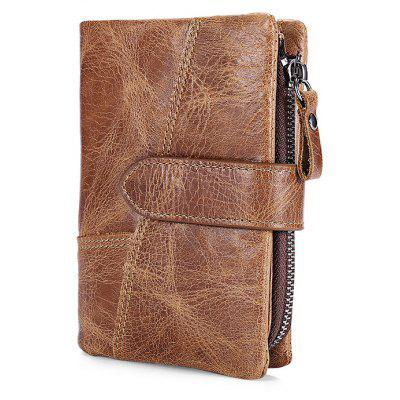FRID Protection Genuine Leather Men Wallet