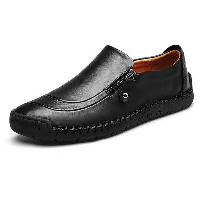 Male Soft Stitching Manual Slip On Casual Oxford ShoesMen's Oxford<br>Male Soft Stitching Manual Slip On Casual Oxford Shoes<br><br>Closure Type: Slip-On, Zip<br>Contents: 1 x Pair of Shoes, 1 x Box<br>Function: Slip Resistant<br>Materials: Leather, Rubber<br>Occasion: Dress, Casual, Tea Party, Daily, Office, Holiday, Shopping<br>Outsole Material: Rubber<br>Package Size ( L x W x H ): 30.00 x 22.00 x 10.00 cm / 11.81 x 8.66 x 3.94 inches<br>Package weight: 0.8000 kg<br>Pattern Type: Solid<br>Product weight: 0.7000 kg<br>Seasons: Autumn,Spring<br>Style: Modern, Leisure, Fashion, Comfortable, Casual, Business<br>Toe Shape: Round Toe<br>Type: Casual Leather Shoes<br>Upper Material: Leather