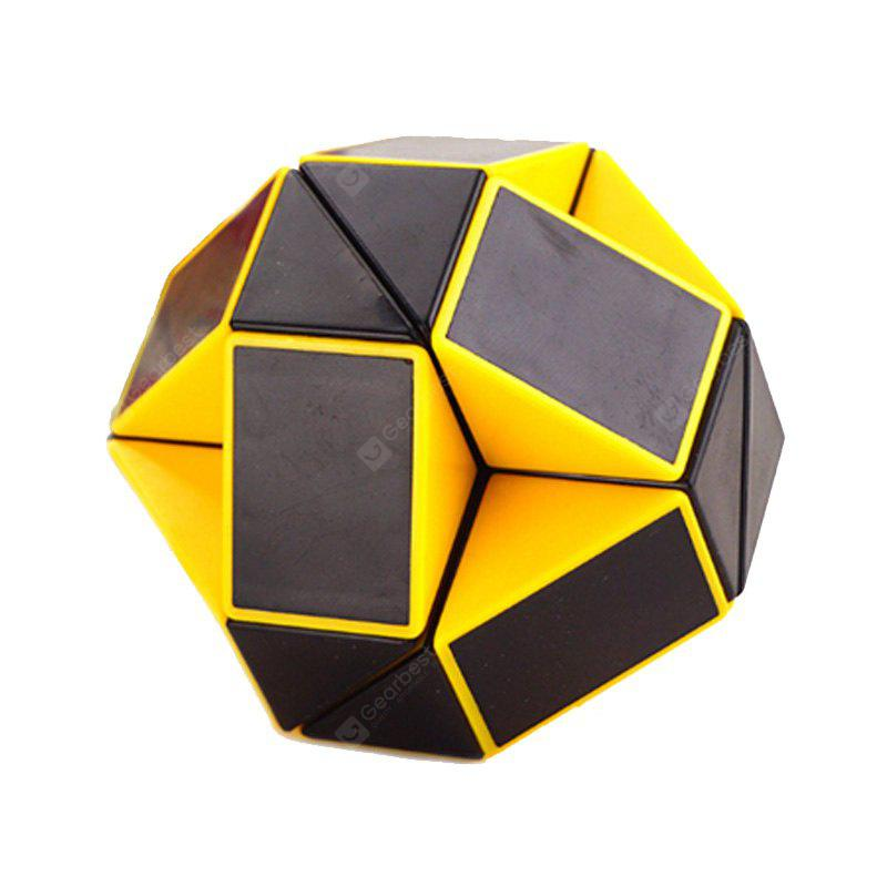 Buy Changed Puzzle Toy 24 Pieces Irregular Magic Cube YELLOW AND BLACK