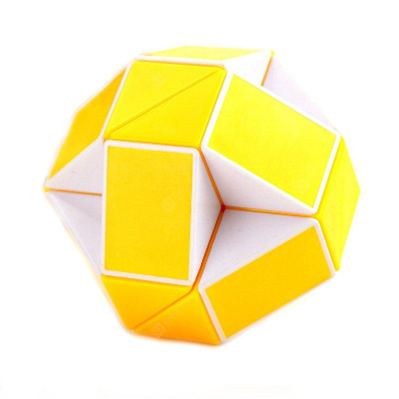 Buy Changed Puzzle Toy 24 Pieces Irregular Magic Cube WHITE AND YELLOW