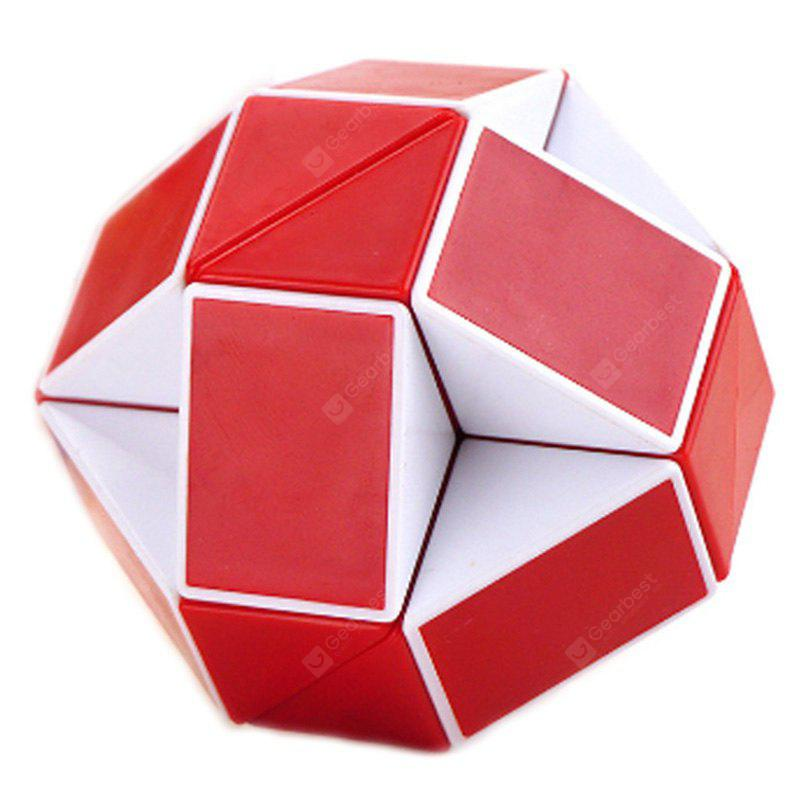 Buy Changed Puzzle Toy 24 Pieces Irregular Magic Cube RED WITH WHITE