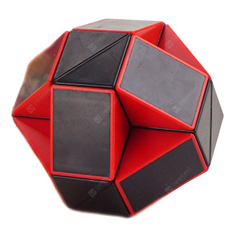 Buy Changed Puzzle Toy 24 Pieces Irregular Magic Cube RED WITH BLACK