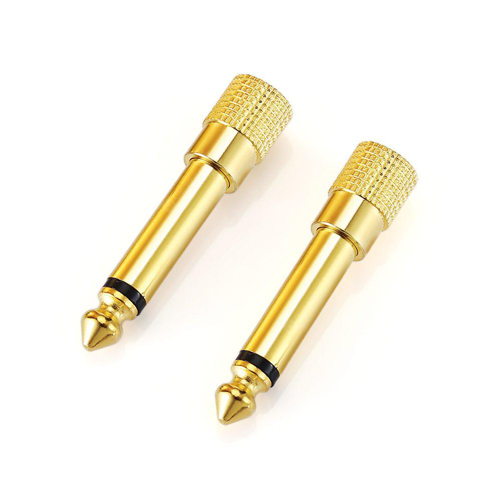 2PCS Single Track 6.35mm Male to 3.5mm Female Adapter