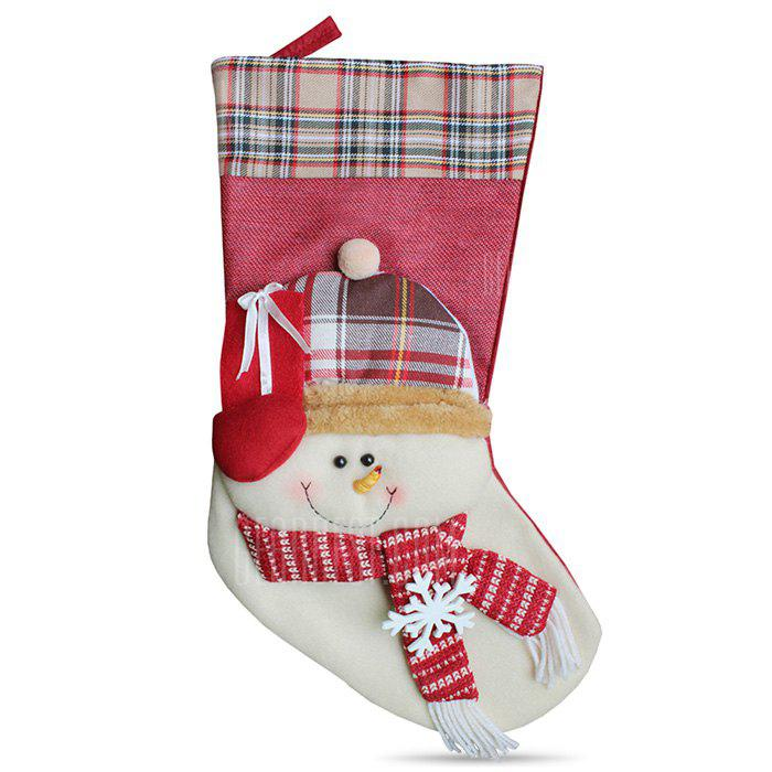 Christmas Snowman Shape Hanging Decorations Socks