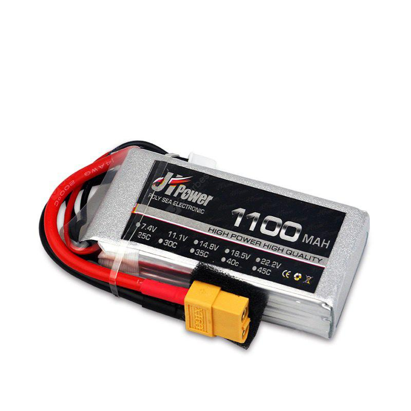 JHPOWER 7.4V 1100mAh 25C LiPo Battery with XT60 Plug