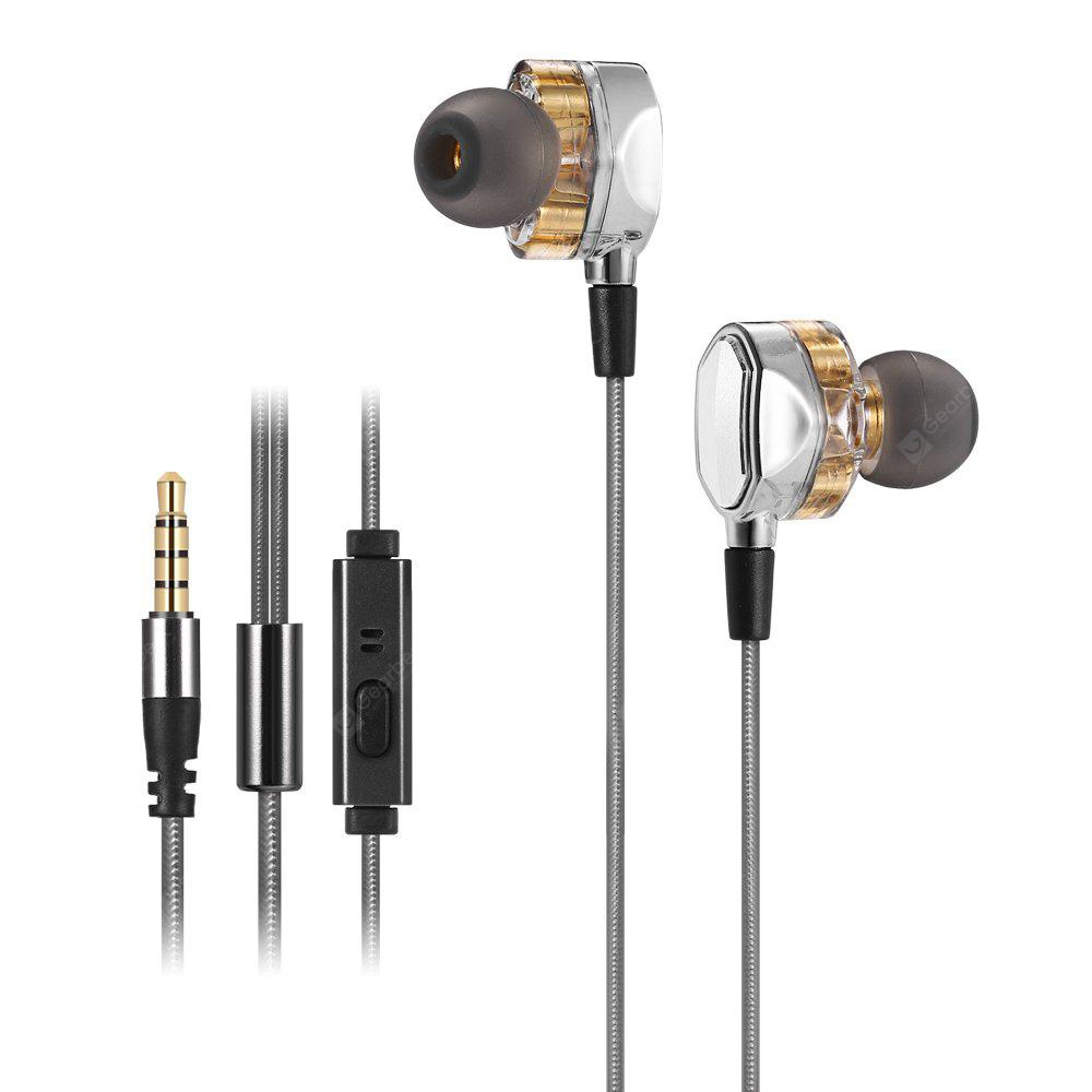 G2 4D Stereo Surround Professional HiFi Earphones with Mic