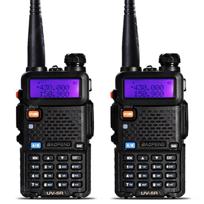 BaoFeng UV - 5R 2PCS Wireless Dual Band Walkie Talkie US BLACK