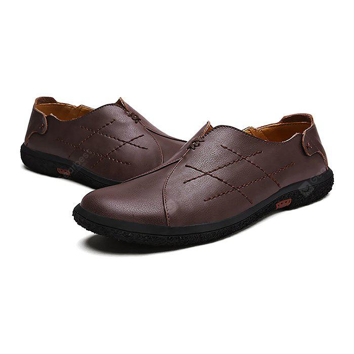 Mâle Soft Stitching Manuelle Casual Slip On Oxford Shoes