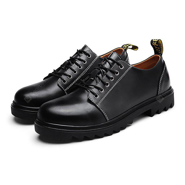 Homme Trendy Soft Stitching Manual Casual Oxford Shoes