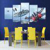 5PCS YSDAFEN Sky Aircraft Printed Painting Canvas Print - COLORMIX