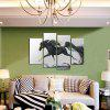4PCS Running Horse Printing Canvas Wall Decoration - MULTICOLORE