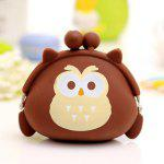 Girl / Women Cute Silicone Coin Purse Wallet - DUN