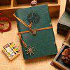 Retro Luxurious Pirate Style Leather Cover Paper Notepad - BLACKISH GREEN