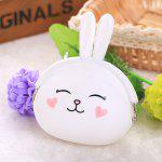 Girl / Women Stylish Cute Silicone Coin Purse Wallet - WHITE