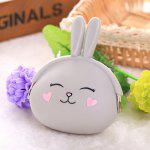 Money Bag Case Stylish Cute Silicone Coin Purse Wallet - LIGHT GREY