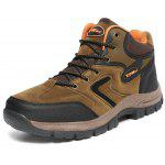 Male Hiking Durable Water Resistance Ankle Top Sneakers - BROWN