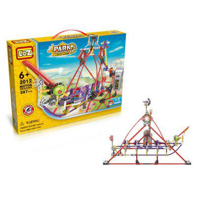 LOZ 2012 Amusement Park Pirate Ship Style Electric Building Block - 287Pcs