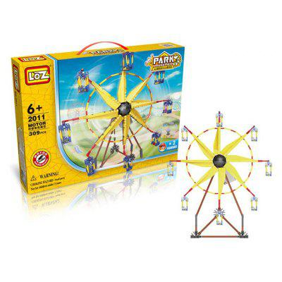 LOZ 2011 Amusement Park Ferris Wheel Style Electric Building Block - 309Pcs